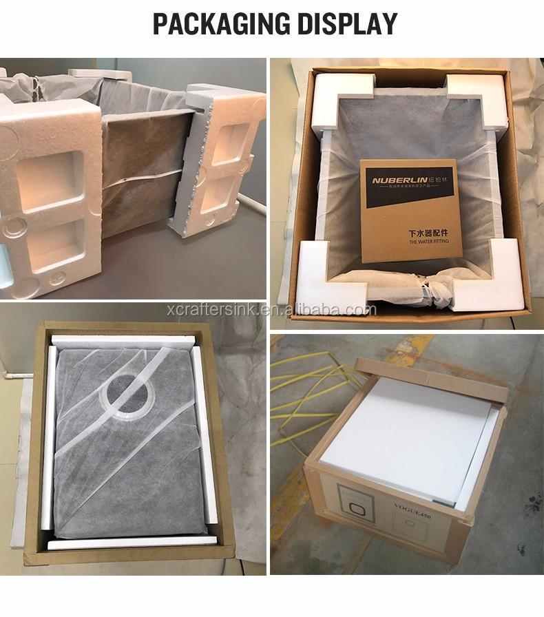 Factory supply zonder kraan gat rvs 304 rechthoekige geborsteld aanrecht buy product on - Rechthoekige gootsteen ...