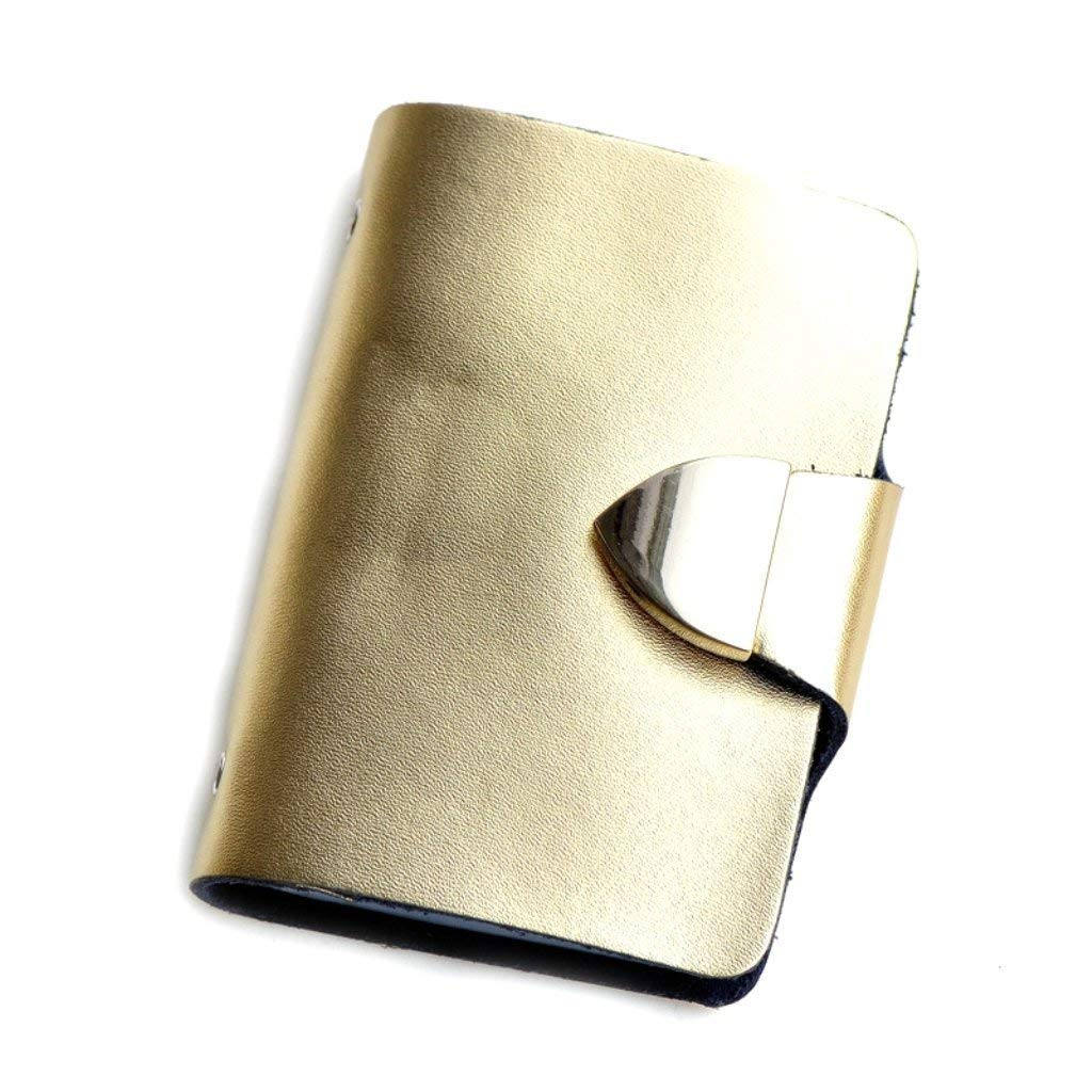 Genuine Leather Credit Card Holder, Solid Color Patent Leather Credit Card Case