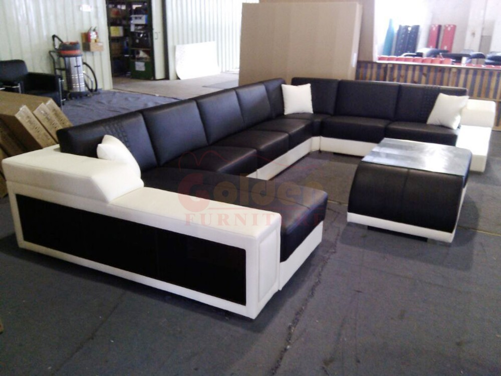 New L Shaped Leather Sofa Set Designs Furniture Price A823