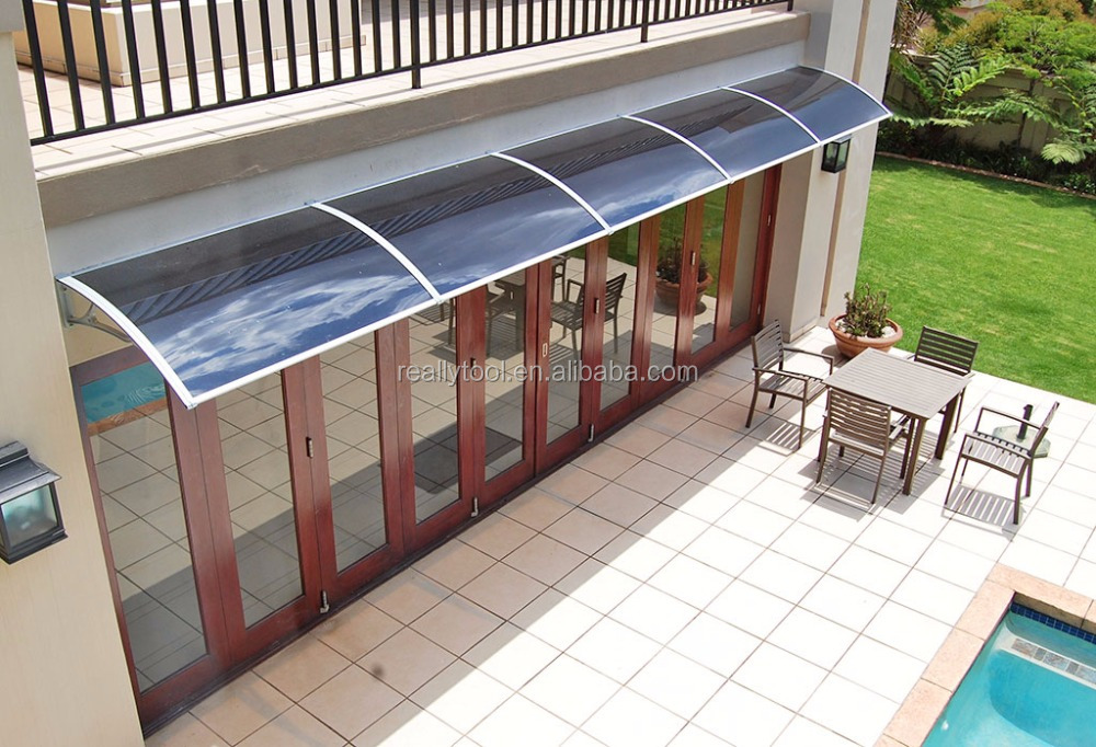 HOT Door Canopy Solid Roof Front Back Outdoor Rain Awning Porch Shelter Black & Hot Door Canopy Solid Roof Front Back Outdoor Rain Awning Porch ...