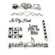 Craft stamps clear custom silicone stamp manufacture for scrapbooking
