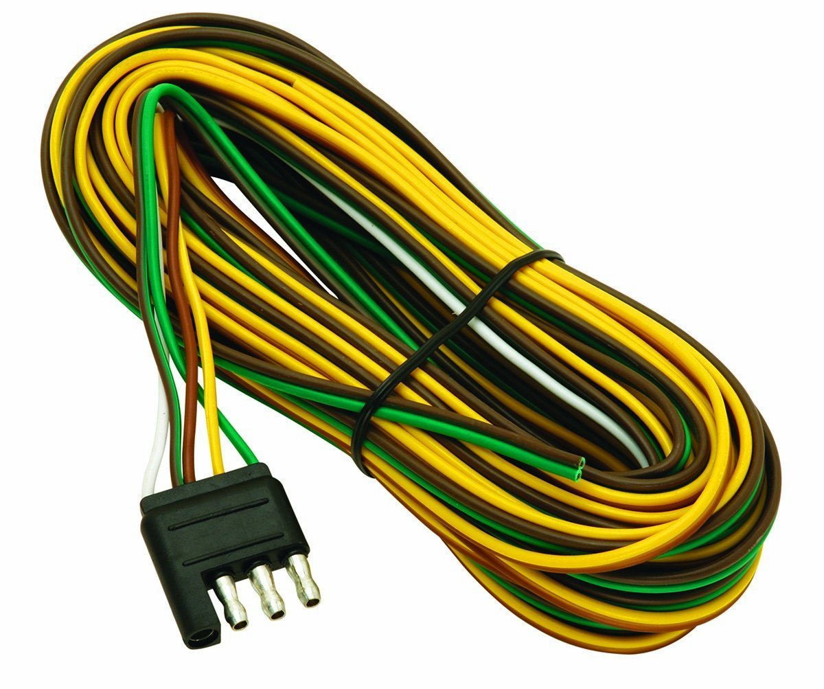 Buy Wesbar 707261 Wishbone Style Trailer Wiring Harness with 4-Flat on ford fiesta trailer hitch light harness, 4 pin trailer wiring connectors, 4 pin trailer controller, 13 f250 7 pin wire harness, 4 pin cable, 4 pin trailer wiring problems, 4 pin to 7 pin trailer wiring,