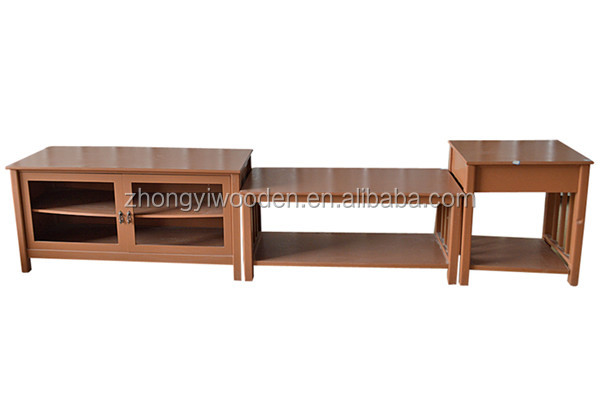 Trade assurance high quality bright lacquer glossy custom popular wooden desk series furniture