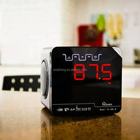 Black boy home alarm clock TF card MP3 USB player remote control LED screen Wireless Bluetooth Speaker with FM radio