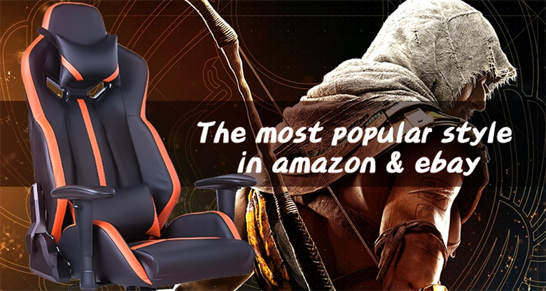 Ergonomic Gaming Computer Chair Racing Style Computer Chair High-Back PC Chair Swivel with Lumbar Support and Headrest
