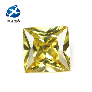 3*3mm Wax Setting Golden Topaz Square CZ Stone