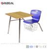 Colorful modern comfortable combo school student chair desk with bookrack Limited supply
