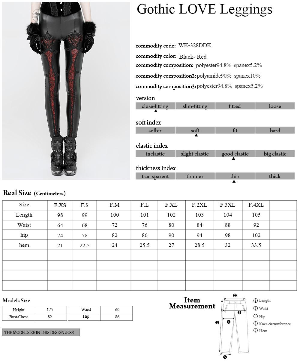 WK-328 PUNK RAVE Gothic Love hot sexy leggings