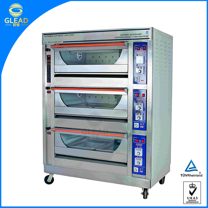Wholesale Price LP Gas big oven top/combi oven