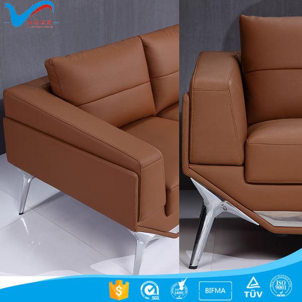 Genuine Leather PU American Style Furniture Regional Office Sofa SF168  Office Sofa Set