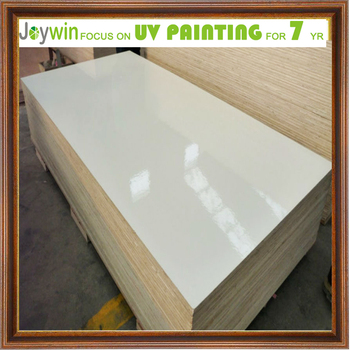 High Gloss Uv Coated White Plywood Paint Glossy Finish