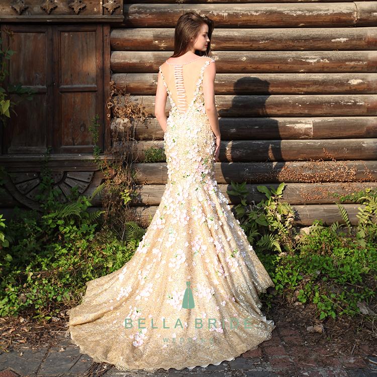 fab8b1d71e091 تصاميم فستان مثير الترتر فساتين السهرة pronm الذهبية الغربية حزب ارتداء  فساتين للسيدات
