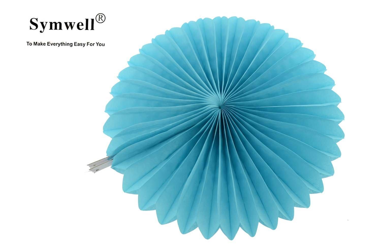 Buy Symwell 6 Pcs Tissue Paper Fan Collection Fan Flowers Tissue