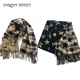 Autumn and Winter Women's Thick Warm and Long Section Pentagonal Star Scarf Air Conditioning Shawl Dual-Use Spring and Summer