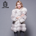 Women's real natural fox fur jacket for winter coat