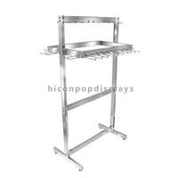 Free Design Easy Assembling Floor Standing Retail Store Metal Hanging Tie And Belt Display Racks