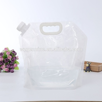 5L Collapsible Water Bag Foldable Outdoor PE Water Storage Carrier Container