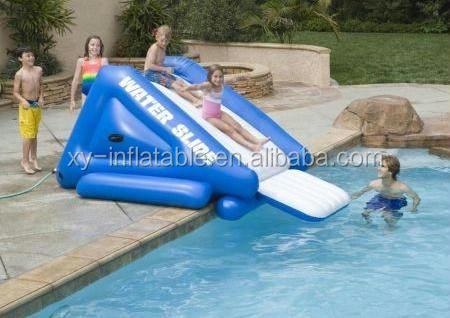 Crazy fun on the inflatable pool <strong>slide</strong> for kid beach <strong>slide</strong>