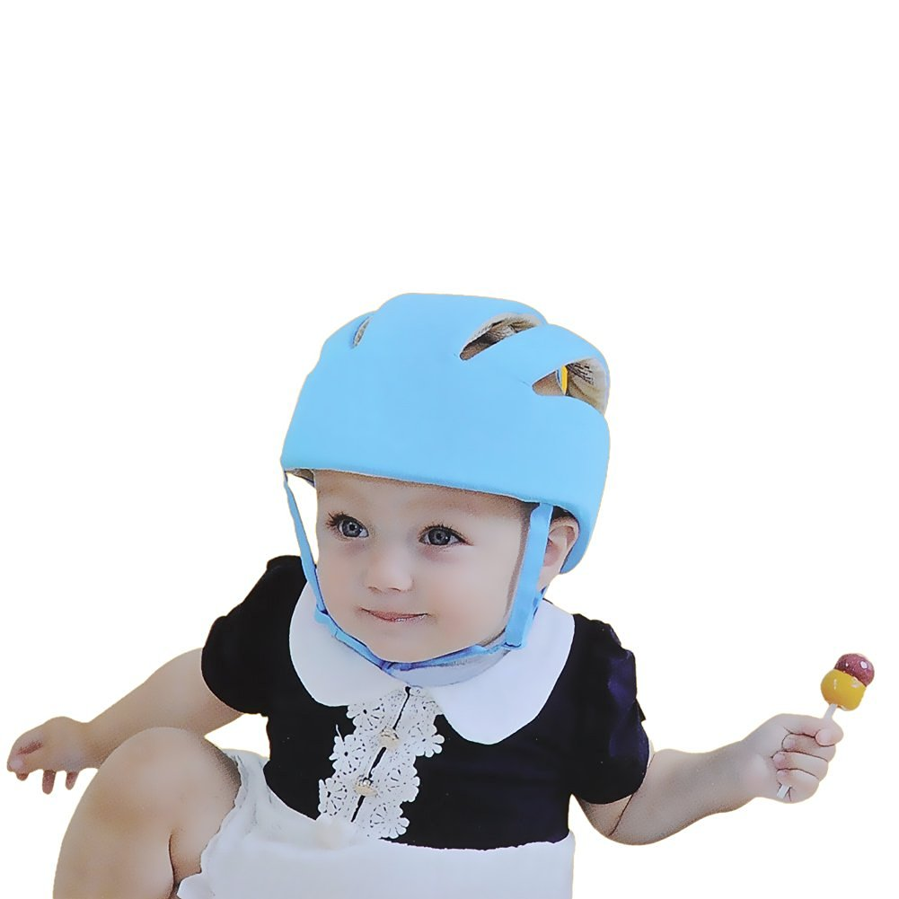 cd78f2ea157 SHINES™ Baby Infant Safety Helmet Headguard Protective Harnesses Adjustable  Hat Blue