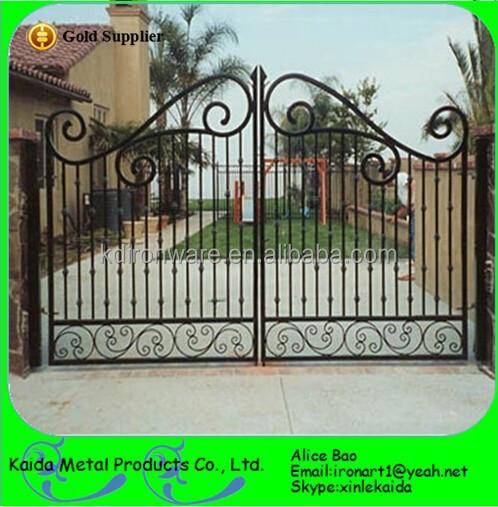 Puerta de hierro forjado ornamental y dise o de puerta de - Puertas de hierro para jardin ...