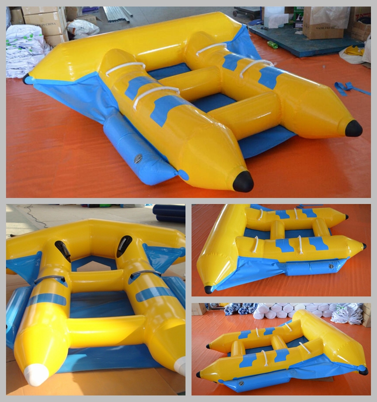 2 Rider Inflatable Fly Fish Towable Banana Boat Tube For Beach Games