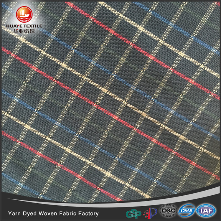 In-stock yarn dyed 100 <strong>polyester</strong> woven double layer fabric for fashion shirt