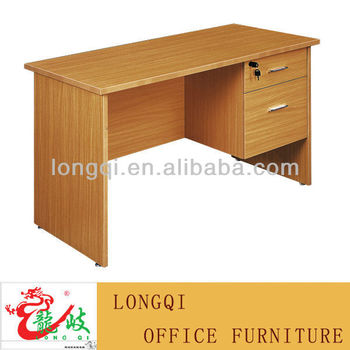 Office Writing Table. Cheap Modern Simple Melamine Surface Finish Two Drawer  Locking Student Writing Table