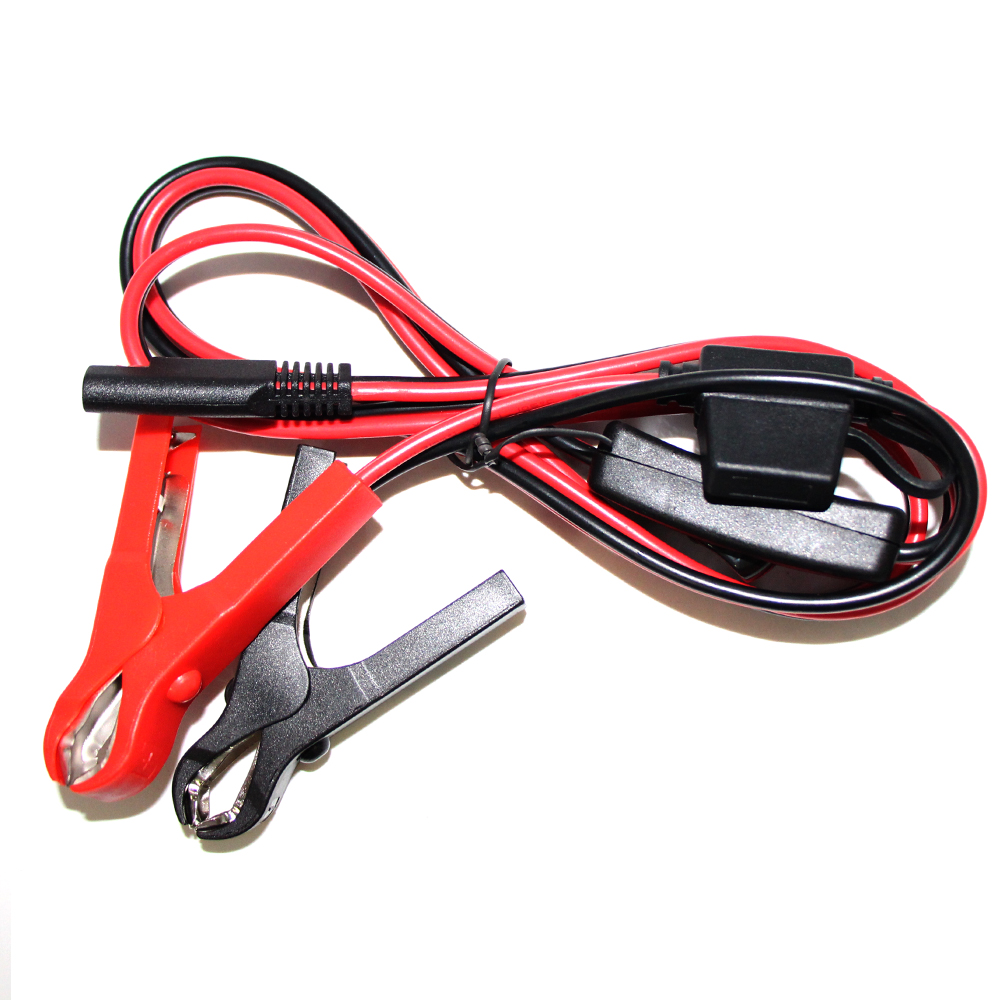 Car jump starter alligator clip to SAE with fuse solar cable (4)