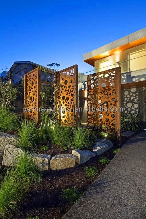 Laser cut corten steel garden screen buy laser cut for Outdoor decorative screens