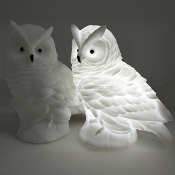 vinyl owl shaped led light toy with light for christmas or home decoration