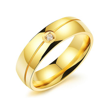 In Acciaio Inox di Lusso Cubic Zirconia <span class=keywords><strong>Eternity</strong></span> Uomini Anello In Oro Placcato