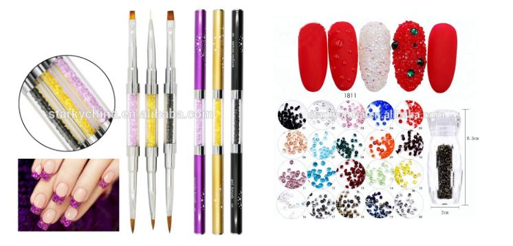 24 PCS Pre Design Nail Art Tips / False Nails / Supplier
