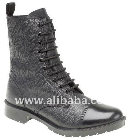 Black Leather Gents Boot
