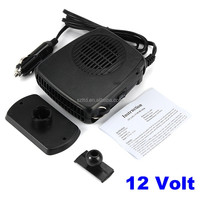 2 in 1 12V 200W Auto Car Heater Portable Heating Fan with Swing-out Handle Driving Enthusiasts Defroster Demister