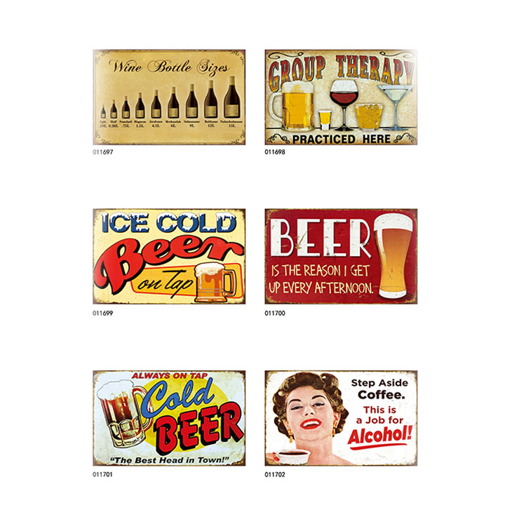 Hot selling bar decoration tin sign vintage tin sings <strong>metal</strong>