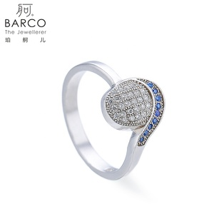 Gemstone Silver Jewelry 925 CZ Ring Wholesale