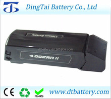 lithium ion 36v 14ah Ocean down tube e-bike battery with 2A charger