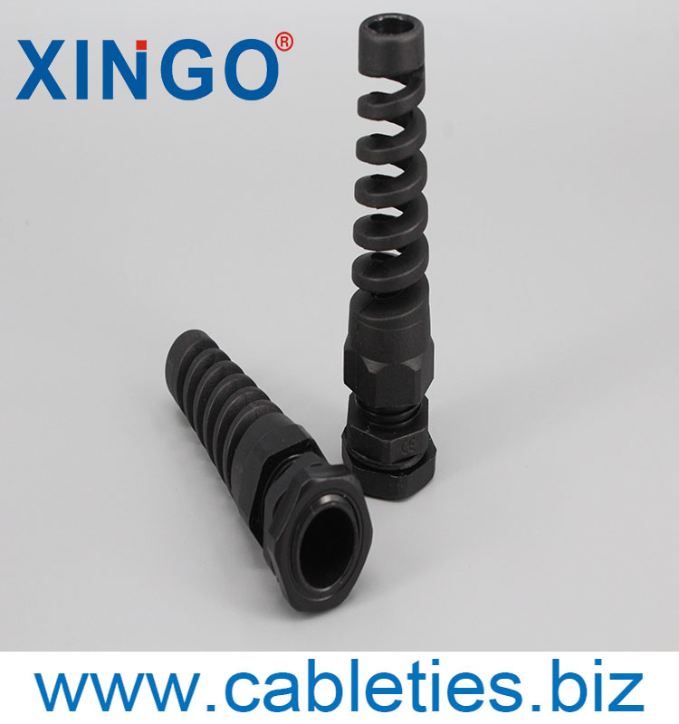 Plastic cable gland with strain relief waterproof IP68 PG7 nylon cable gland (black color)
