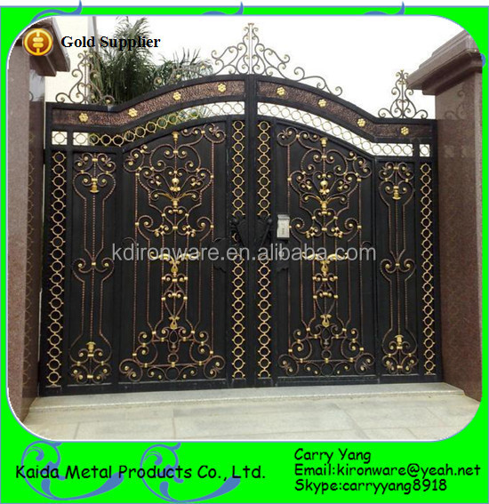 New Decorative Wrought Iron Main Gate Design/wrought Iron Gates ...