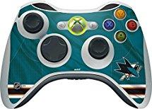 NHL San Jose Sharks Xbox 360 Wireless Controller Skin - San Jose Sharks Home Jersey Vinyl Decal Skin For Your Xbox 360 Wireless Controller