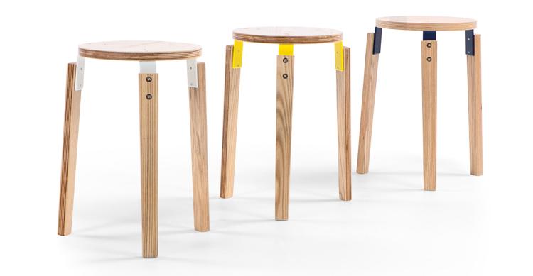 Giapponese contratta sgabello in legno massello mobili in legno