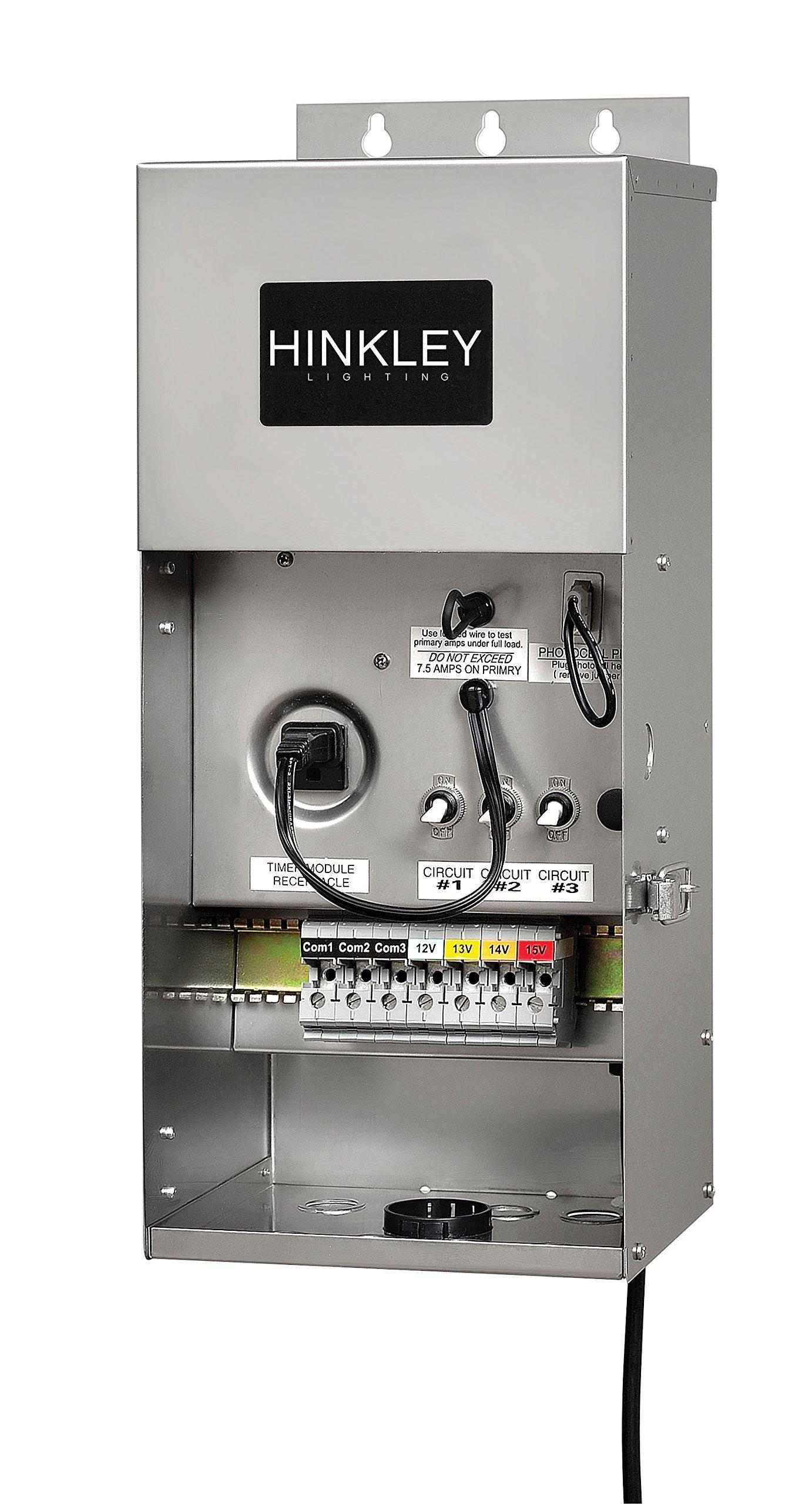 Hinkley Lighting 0900SS Pro Series Multi-Tap 12-15 Volt 900 Watt Transformer, Stainless Steel