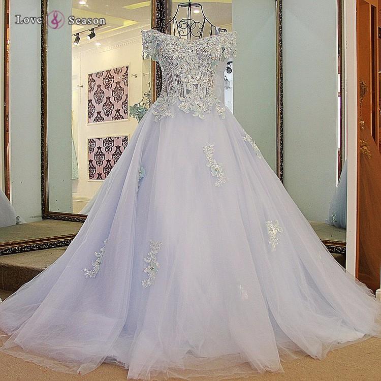 View Larger Image LS65732 Off Shoulder Elegant Light Blue Made To Order Evening Dresses China