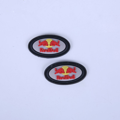 Wholesale Custom Glued Label Soft PVC Badge Rubber Patch Garment Accessories