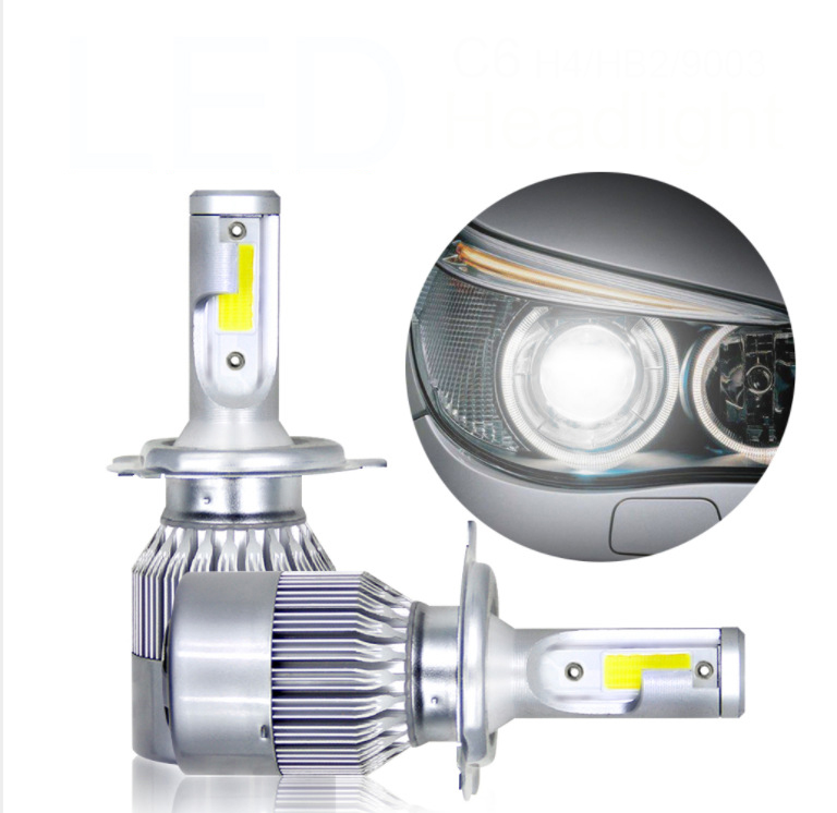 Auto car Motorcycle h4 led high low headlight 50w 8000lm car h4 led headlight bulbs 12v led h4 motorcycle headlight