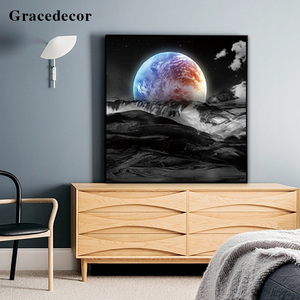 Sunrise Landscape Painting Wall Art Groupings Triptych Wall Art
