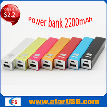 Factory product!!!Aluminum Alloy power bank 2200mah, power bank for mobile phone