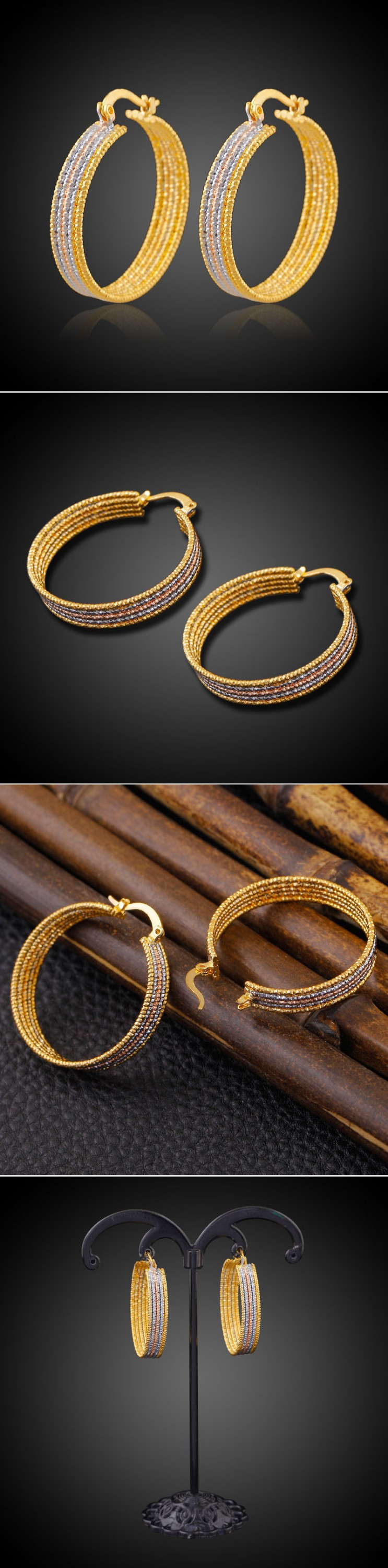 for daily product gold women girls stud plated skn copper metal earrings wear