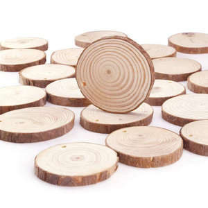 diy craft decorative round natural pine wood slices for hanging ornament