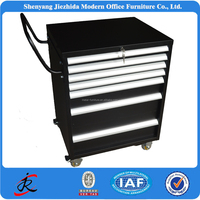 movable metal tool storage cabinet garage workshop steel tool trolley with tools